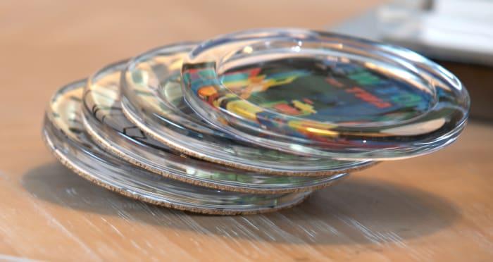 Sassy Recycled Glass Coaster Set of 4
