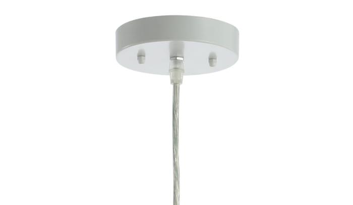 Woven Rattan Dome LED Pendant, Cream
