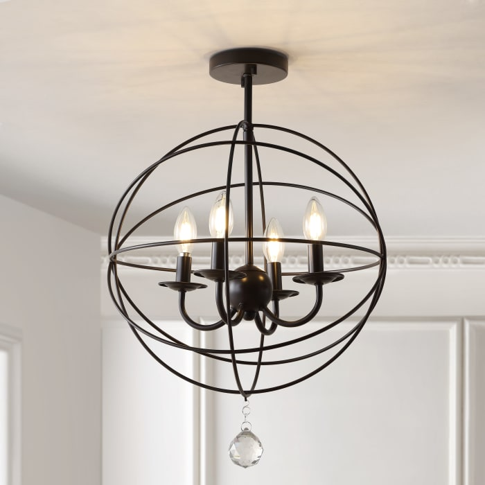 Metal LED Flush Mount, Oil Rubbed Bronze