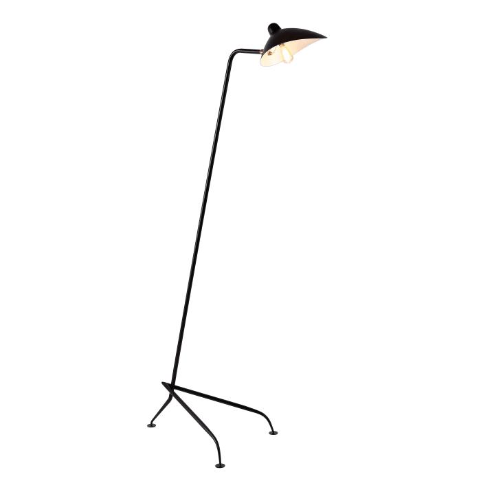 Iron Retro Minimalist LED Floor Lamp, Black