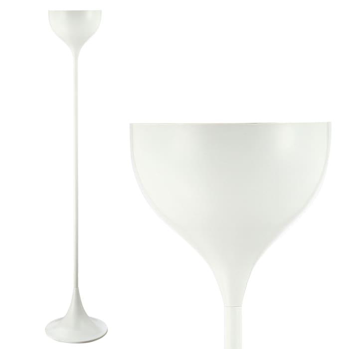 Metal LED Floor Lamp, White