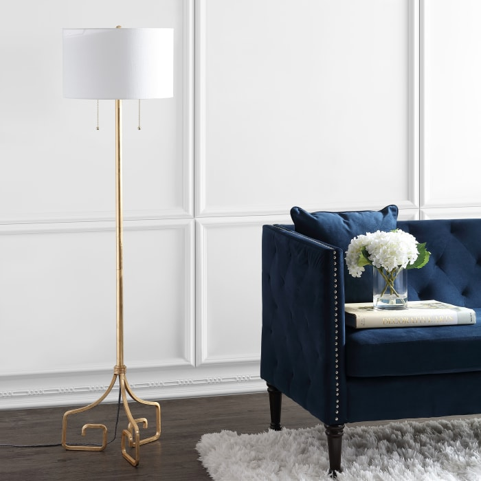 Metal LED Floor Lamp, Gold