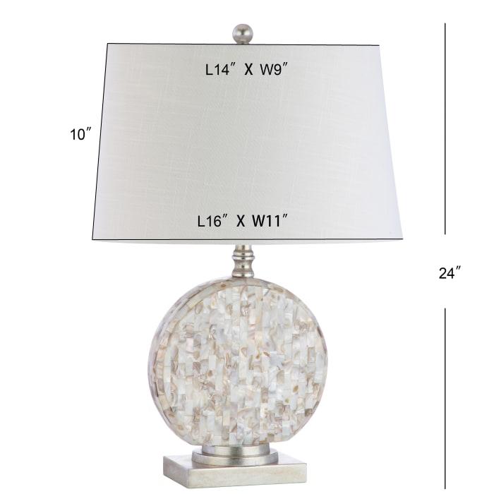 Seashell LED Table Lamp, Cream