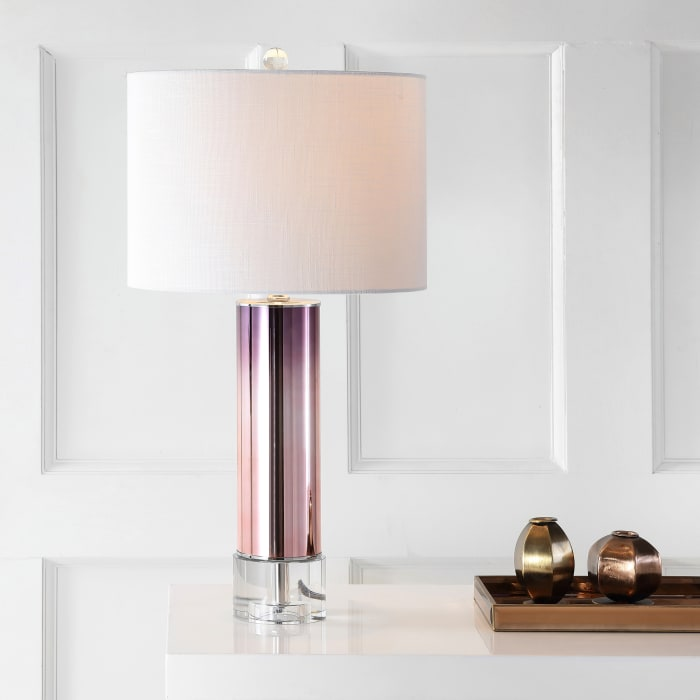 Glass /Crystal LED Table Lamp, Rose Gold