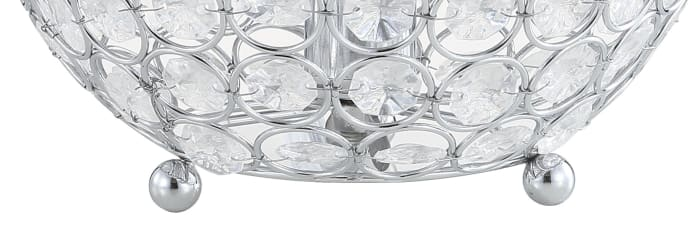 Acrylic/Metal LED Table Lamp, Clear
