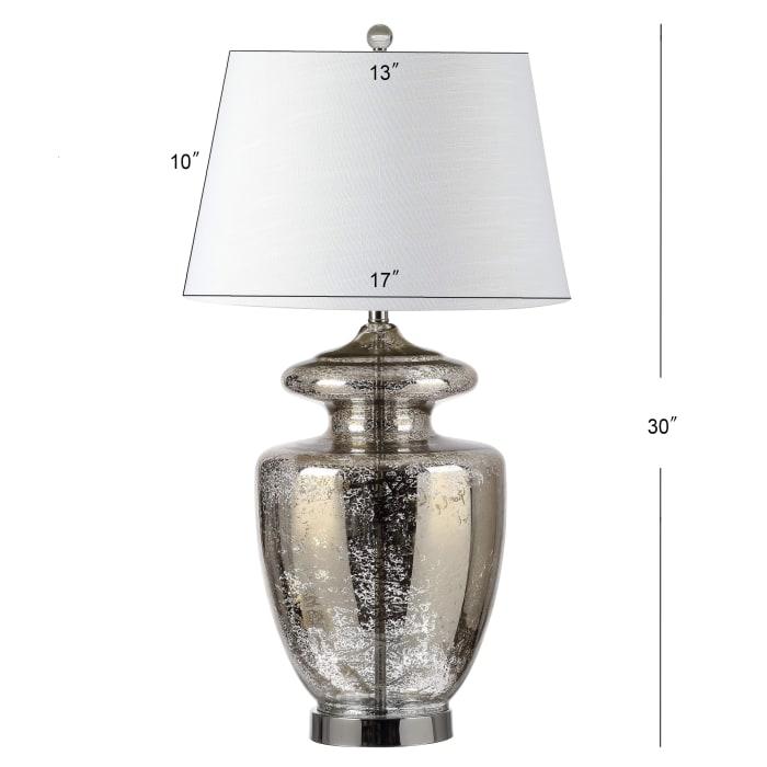 Glass LED Table Lamp, Mercury Glass