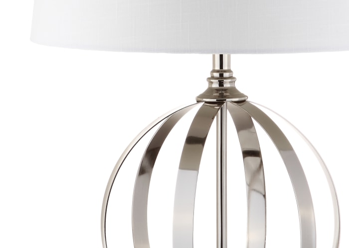 Metal Orb LED Table Lamp, Polished Nickel