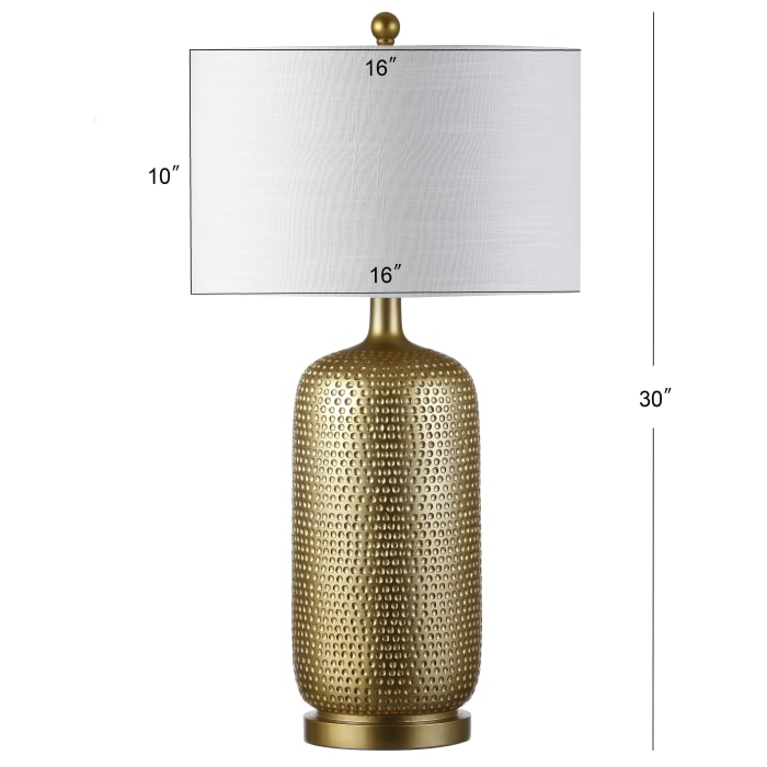 Resin LED Table Lamp, Gold