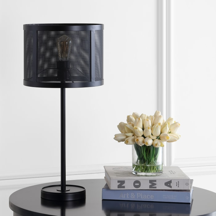 Minimalist Metal LED Table Lamp, Black