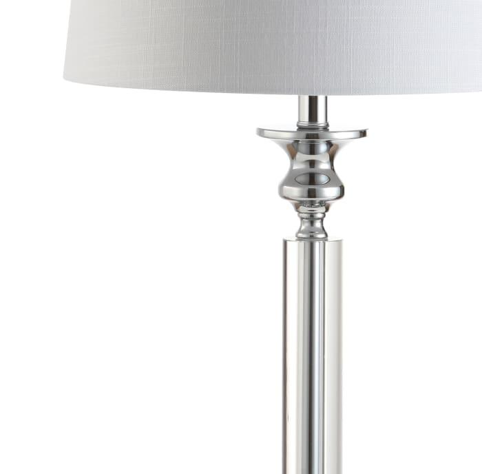 Crystal LED Table Lamp, Clear/Chrome