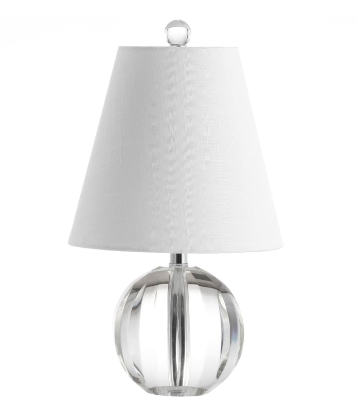 Crystal Ball/Metal LED Table Lamp, Clear