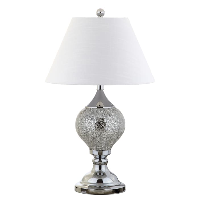 Mirrored LED Table Lamp, Silver/Chrome