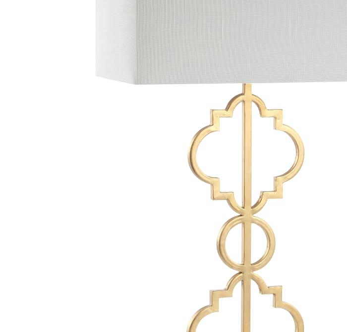 Iron Ogee Trellis Modern Table Lamp, Gold