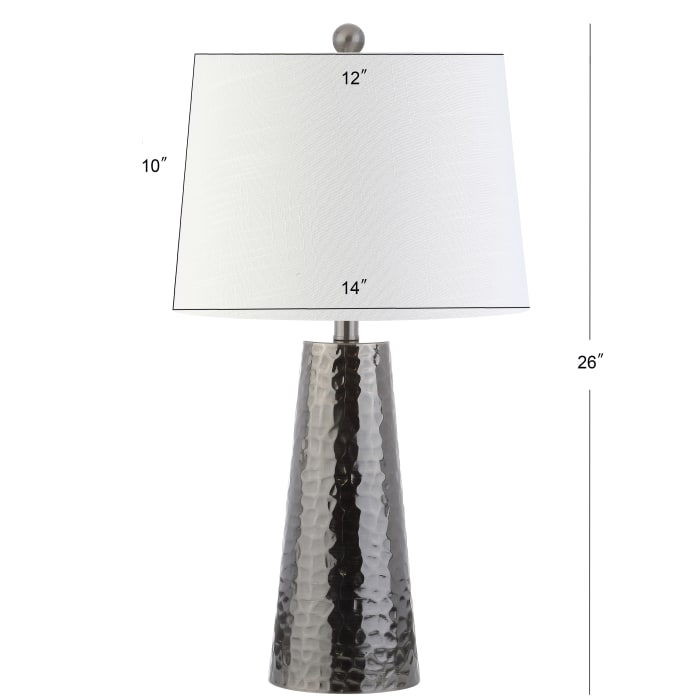 Hammered Metal LED Table Lamp, Black Nickel
