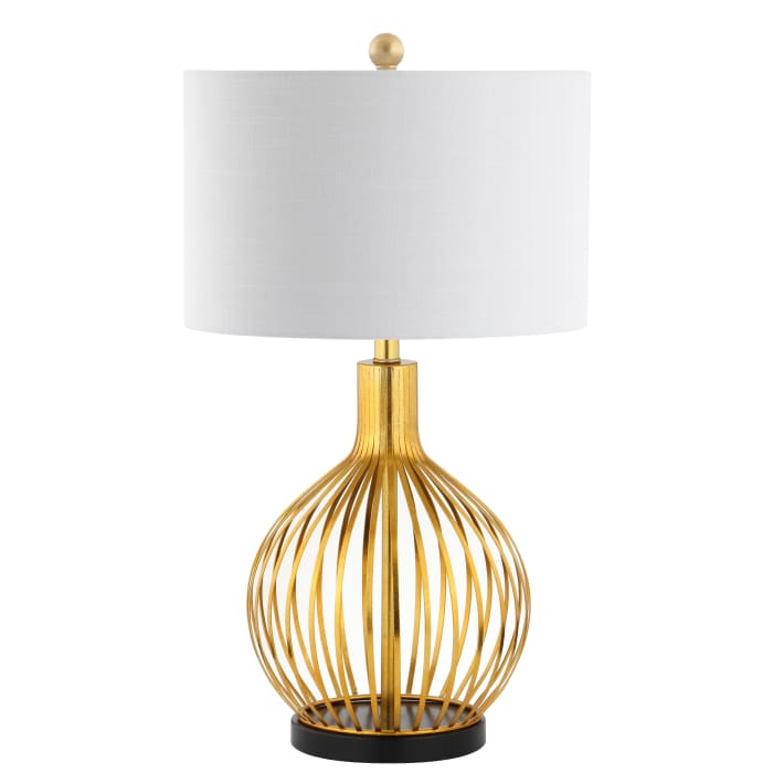 Metal Table Lamp, Gold leaf