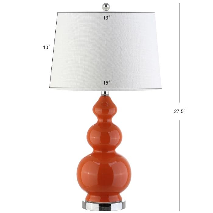 Ceramic LED Table Lamp, Coral