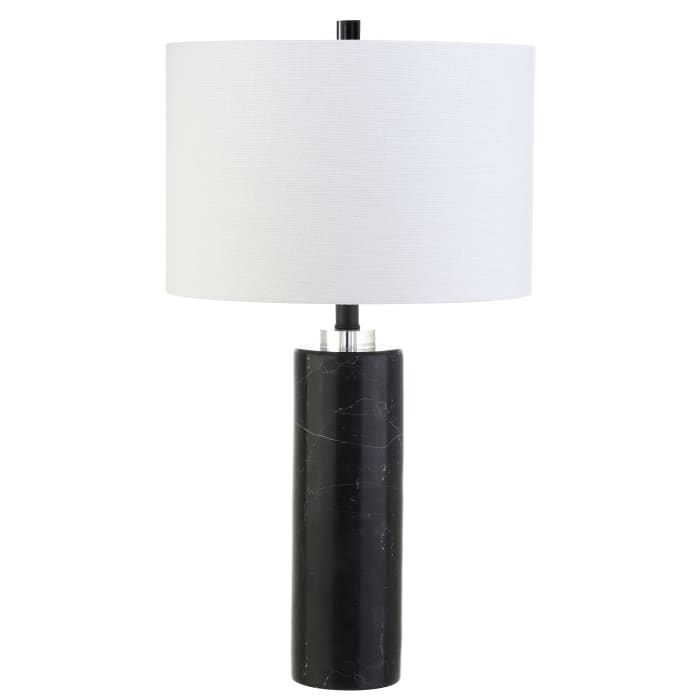 Marble/Crystal LED Table Lamp, Black Marble