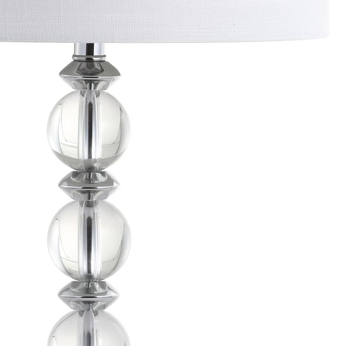 Crystal/Metal LED Table Lamp, Clear/Chrome (Set of 2)