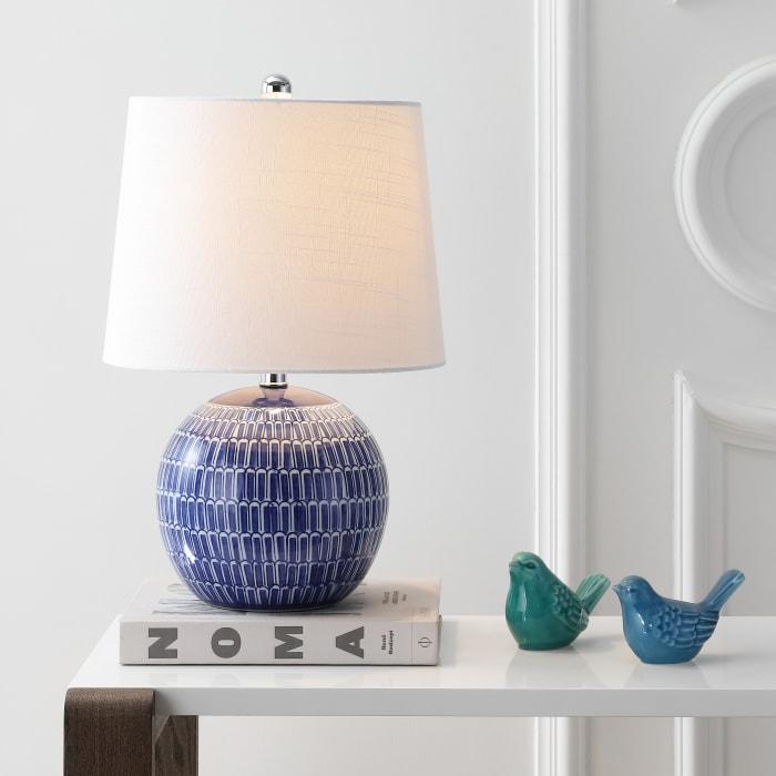 Ceramic LED Table Lamp, Navy