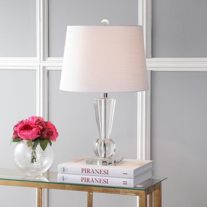 Crystal Table Lamp, Clear