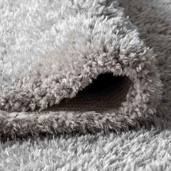 Solid Plush Shag Gray 4' x 6' Area Rug