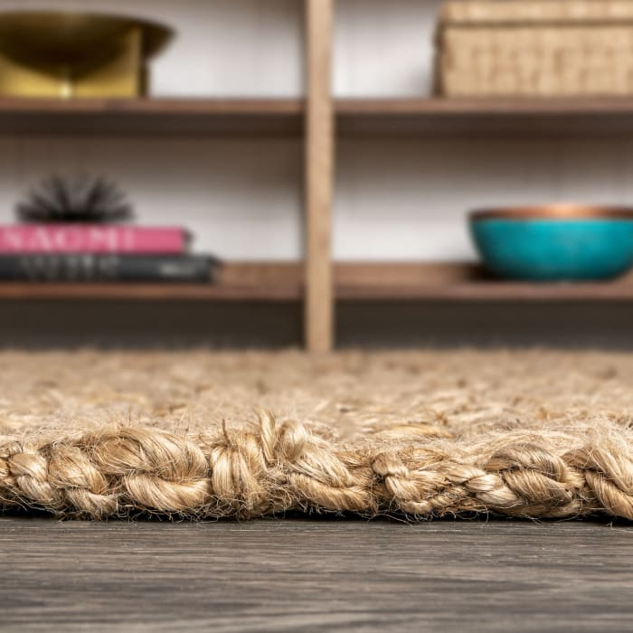 Hand Woven Boucle Chunky Jute Natural 4' x 6' Area Rug