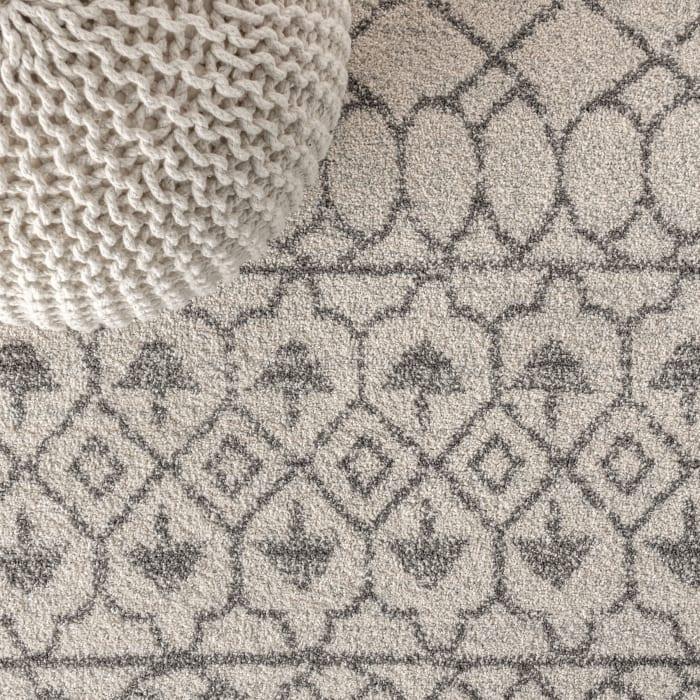 Moroccan Beni Souk Cream/Gray 5' x 8' Area Rug