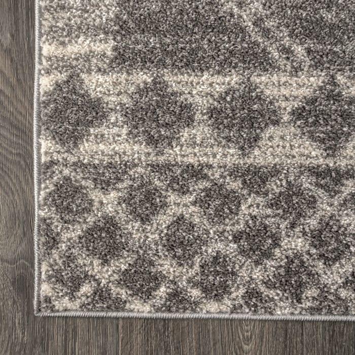 Moroccan Beni Souk Gray/Cream 5' x 8' Area Rug