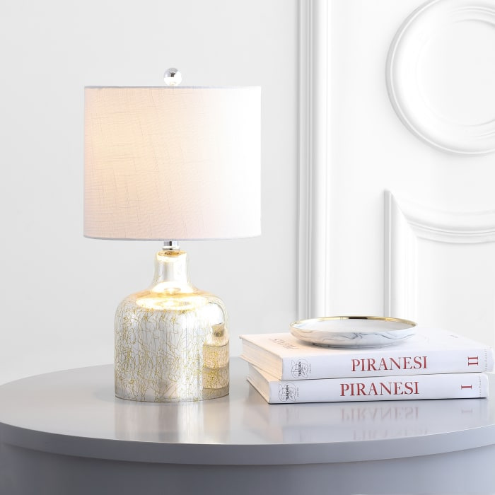 Glass Bell Table Lamp, Gold