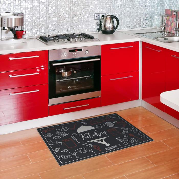 Kitchen Decorative Indoor Vinyl 2' x 3' Floor Mat