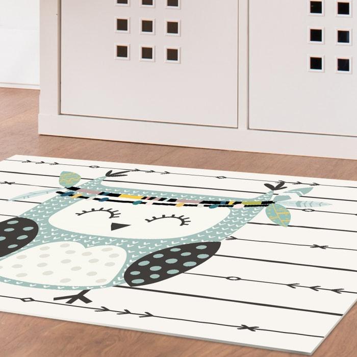 Boho Owl Decorative Vinyl 2' x 3' Floor Mat
