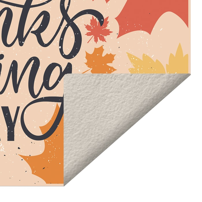 Thanksgiving Day Foliage Vinyl 2' x 3' Floor Mat
