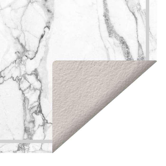 Faux Marble Decorative Vinyl 2' x 5' Floor Mat