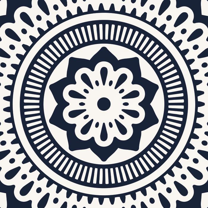 Geometric Mandala Vinyl 4'5