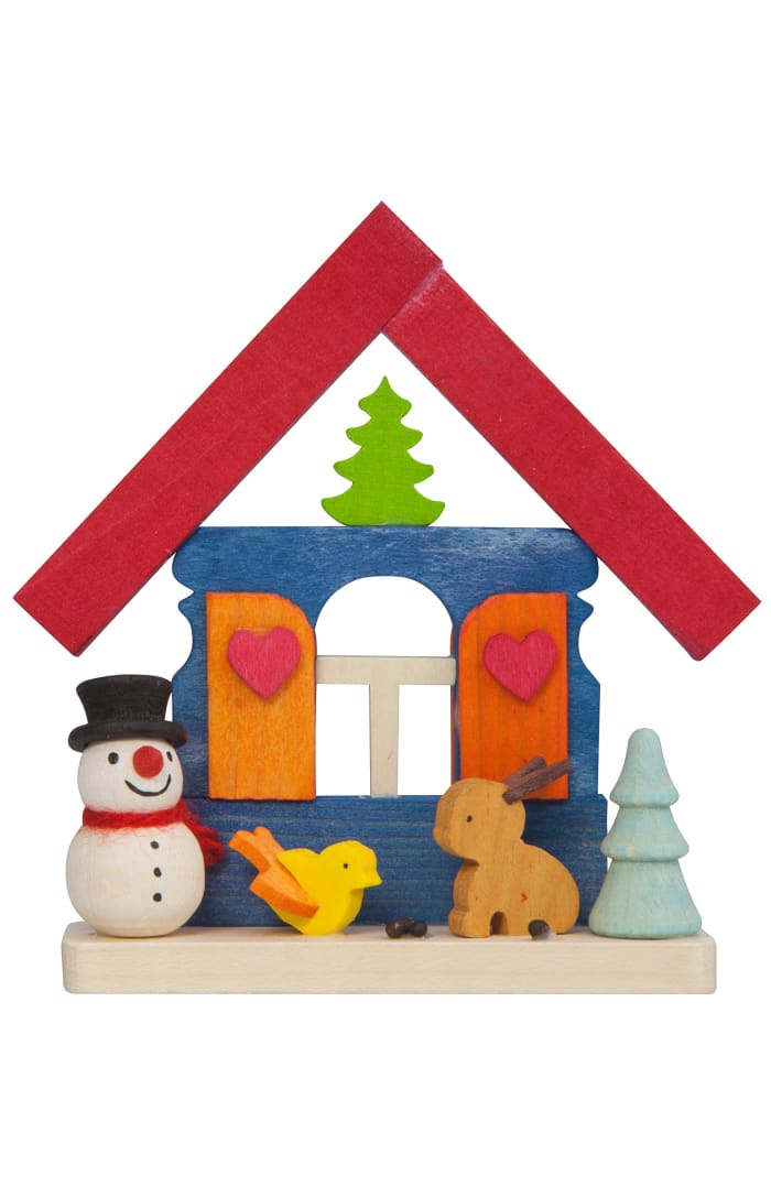 Graupner Snowman with Woodland Animals House Ornament