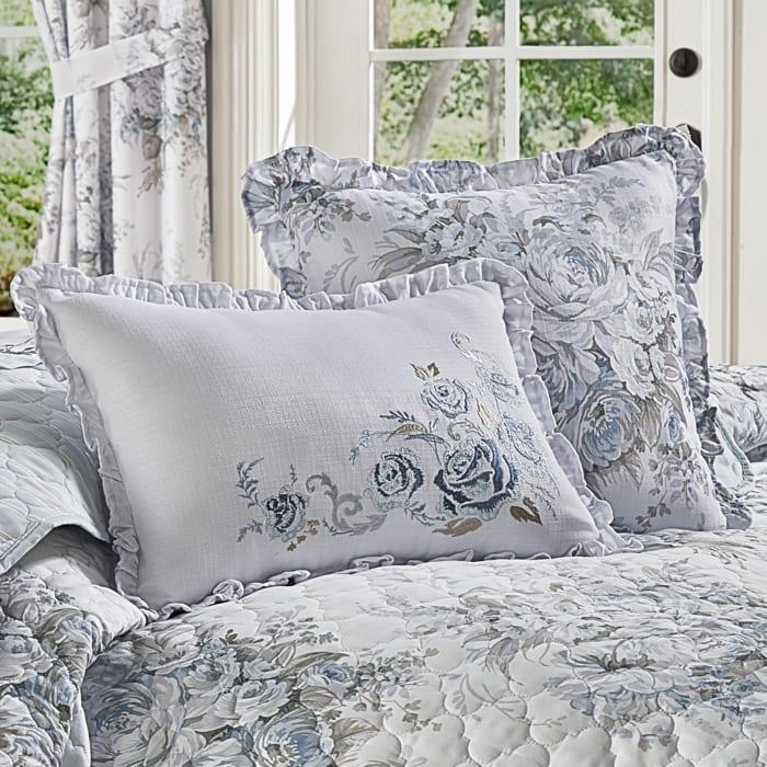 Estelle White Boudoir Decorative Throw Pillow