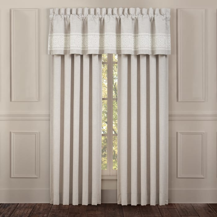 Leanna Beige Window Straight Valance