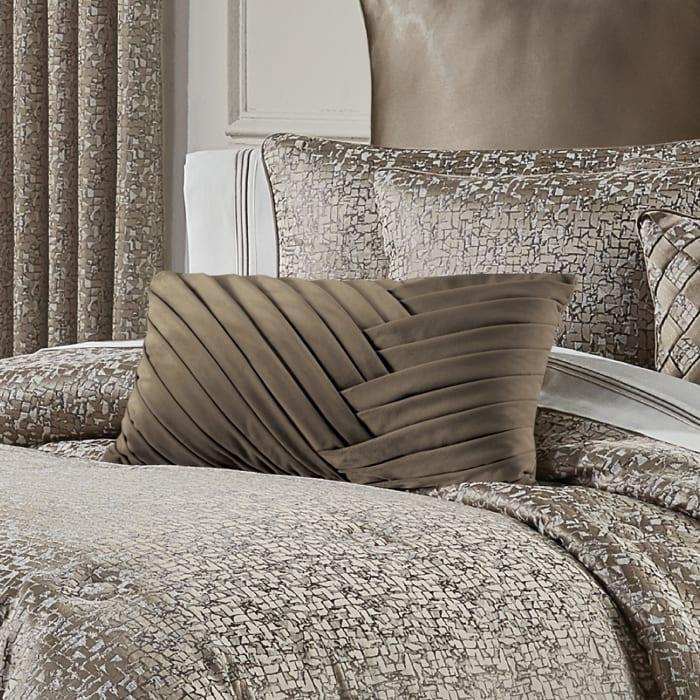 Calgary Taupe Boudoir Decorative Throw Pillow