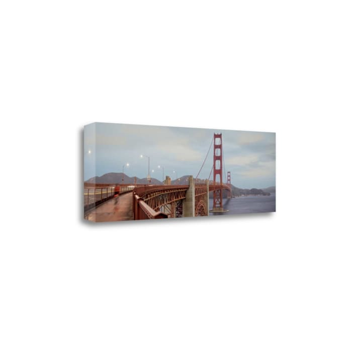 Morning Ride On The Bridge #2 By Alan Blaustein Wrapped Canvas Wall Art
