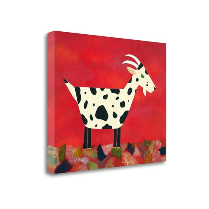 Vincent Van Goat By Casey Craig Wrapped Canvas Wall Art