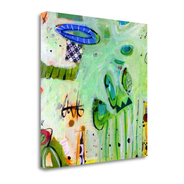 Ms. Alice And Peeps Long Story No.9 By Gina Cochran Wrapped  Canvas Wall Art