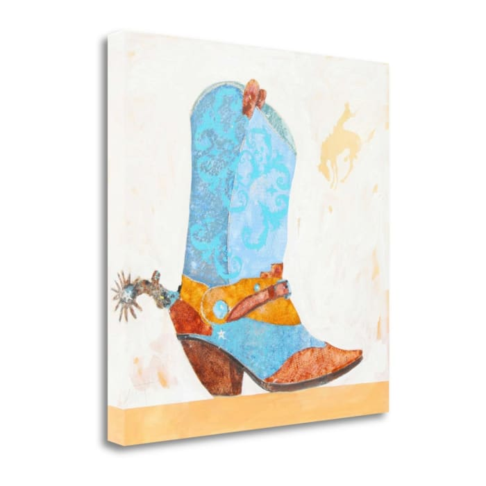 Boy Boot By Anthony Grant Wrapped Canvas Wall Art