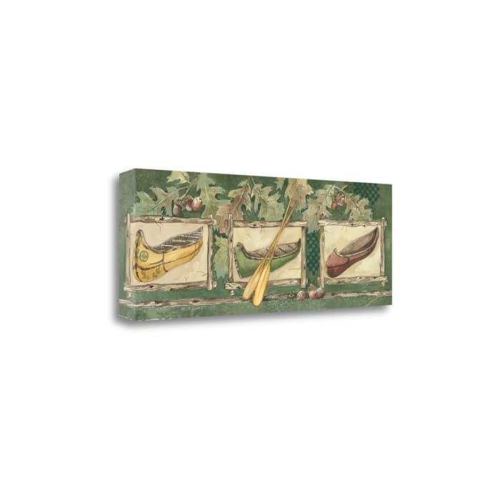 Three Canoes By Anita Phillips Wrapped Canvas Wall Art