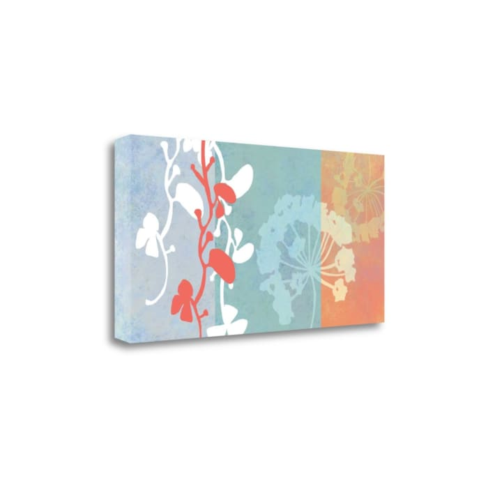 Coral Flowers By Jan Weiss Wrapped Canvas Wall Art