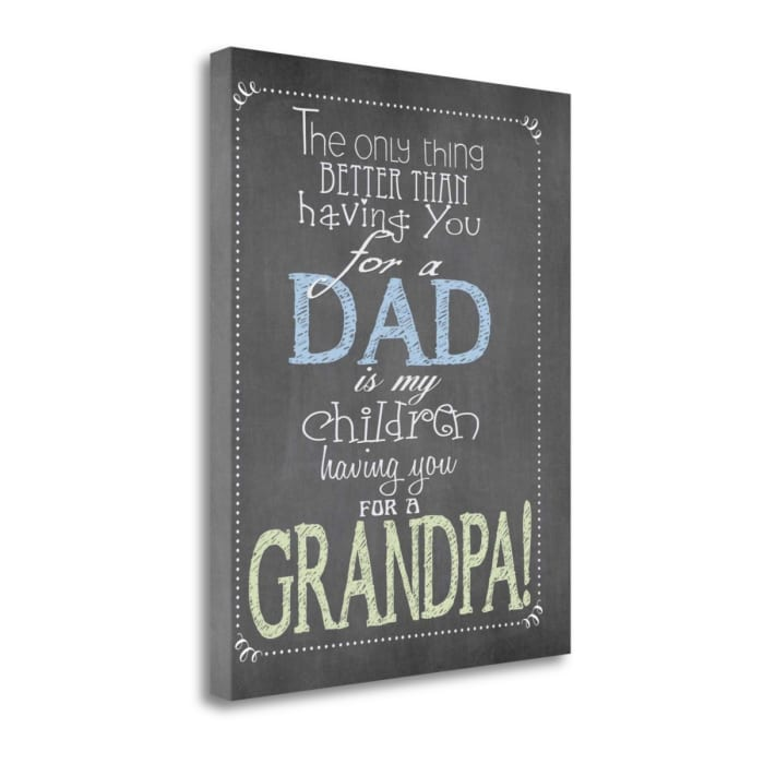 Dad Grandpa By Jo Moulton Wrapped Canvas Wall Art