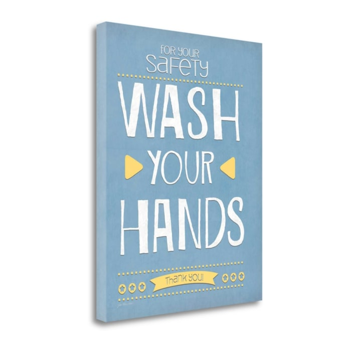 Wash Your Hands By Jo Moulton Wrapped Canvas Wall Art