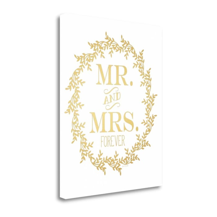 Mr. And Mrs. By Jo Moulton Wrapped Canvas Wall Art