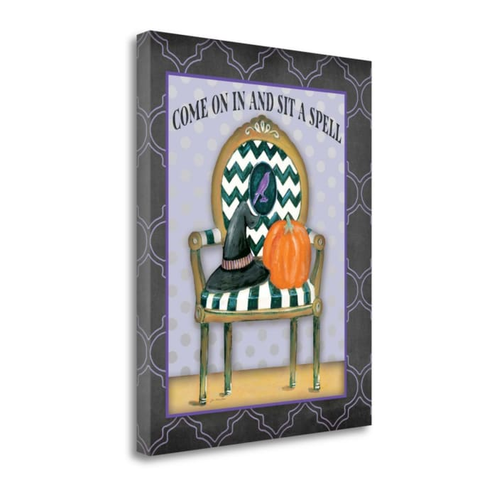 Sit A Spell By Jo Moulton Wrapped Canvas Wall Art