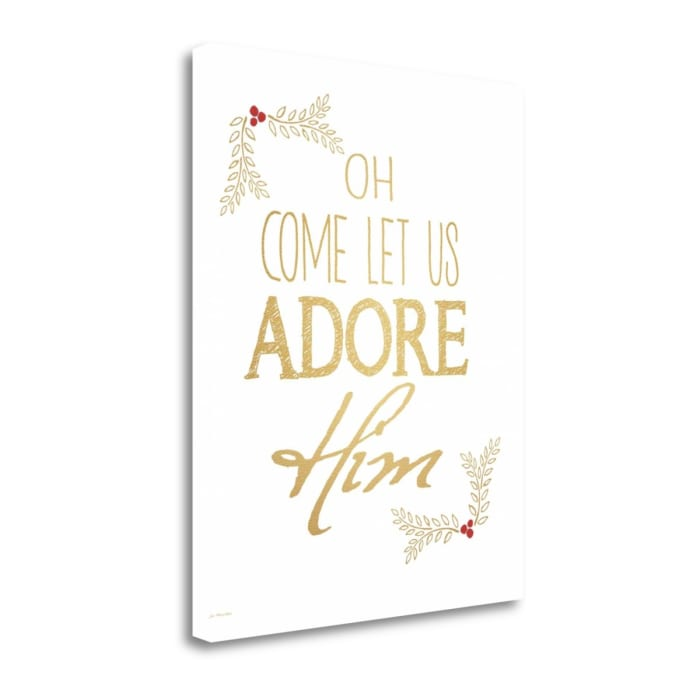 Adore Him By Jo Moulton Wrapped Canvas Wall Art