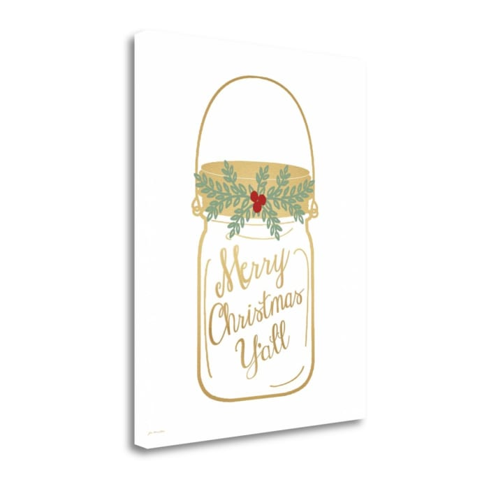 Merry Christmas Yall By Jo Moulton Wrapped Canvas Wall Art